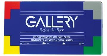 Gallery enveloppes ft 114 x 229 mm avec fenêtre à droite et bande adhésive, boîte de 50 pièces