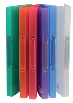 Class'ex classeur à anneaux, 2 anneaux de 16 mm, couleurs assorties transparentes
