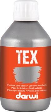 Darwi peinture textile Tex, 250 ml, argent