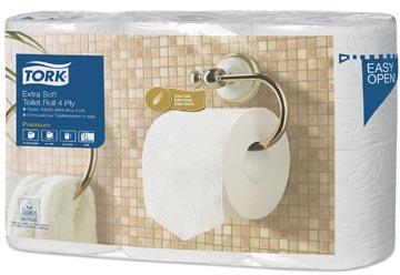 Tork papier toilette Conventional, 4 plis, système T4, paquet de 6 rouleaux