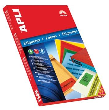 Apli Etiquettes colorées ft 70 x 37 mm (l x h), bleu, 2.400 pièces, 24 par feuille