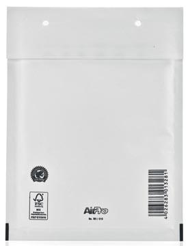 Bong enveloppes à bulles d'air, ft 150 x 215 mm avec bande adhésive, blanc, boîte de 100 pièces