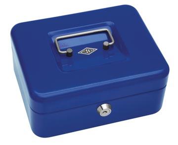 Wedo coffret à monnaie, ft 20 x 16 x 9 cm, bleu