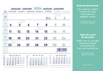 Brepols tapis de souris+calendrier,ft 23X18 cm, nl/fr, 2022