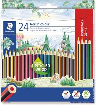 Staedtler Noris colour crayons de couleur, blister de 20 + 4 gratuit