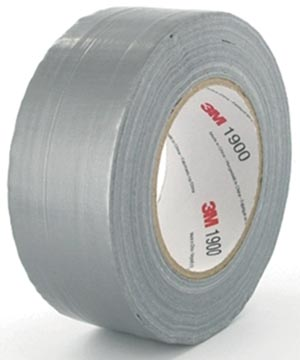 3M duct tape 1900, ft 50 mm x 50 m, argent