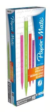 Paper Mate portemine Non-Stop, boîte de 12 pièces en couleurs assorties