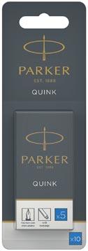 Parker Quink cartouches d'encre, bleu roi, blister de 10 pièces