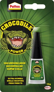 Pattex Crocodile Power colle instantanée, tube de 10 g, sous blister