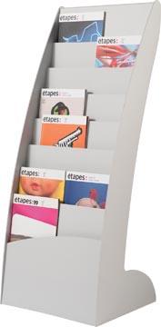 Paperflow présentoir fixe Exposito Courbo, gris