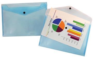 Beautone pochette documents, A4, bleu transparent