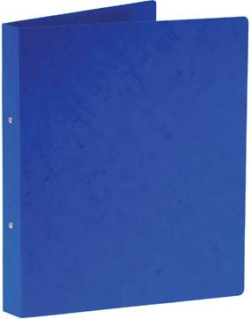 Bronyl classeur à anneaux, pour ft A4, en carton lustré, 2 anneaux de 25 mm, bleu
