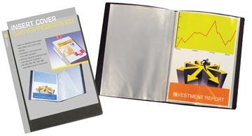 Beautone protège documents personnalisable, A4, 60 pochettes, noir