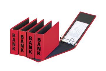 Pagna classeur à anneaux (CCP) ft 14 x 25 cm, rouge, exécution brillante avec typographie noire
