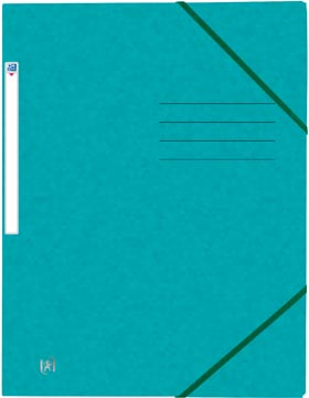 Oxford Top File+ farde à rabats, pour ft A4, bleu aqua