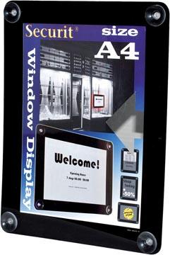 Securit porte-affiches vitre ft A4, noir