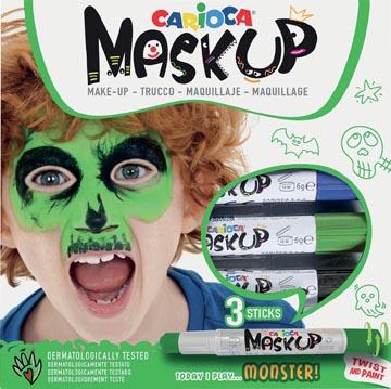 Carioca bâtons de maquillage Mask Up Monstre, boîte avec 3 bâtons