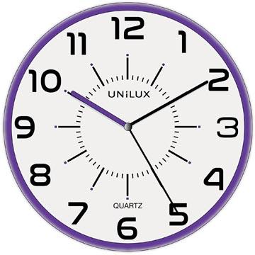 Unilux horloge Pop, diamètre 28 cm, violet