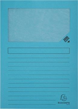 Exacompta pochette coin à fenêtre Forever, paquet de 100 pièces, bleu clair