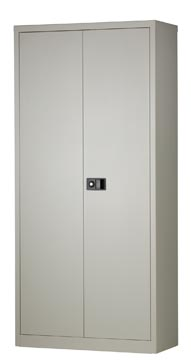Bisley armoire à portes battantes, ft 195 x 91,4 x 40 cm (h x l x p), 4 tablettes, gris