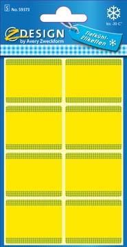 Avery étiquettes congelation en blister, jaune, 40 étiquettes
