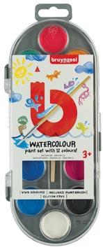 Bruynzeel Kids peinture à l'eau, set de 12 couleurs assorties