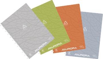 Adoc cahier Design, ft A4, 144 pages, couverture en carton, quadrillé 5 mm, couleurs assorties