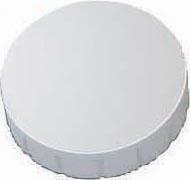 Maul aimant Solid, diamètre 24 mm x 8 mm, blanc, boîte de 10 pièces