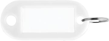 Porte-clés blanc, boîte de 100 pièces