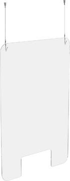 Exascreen écran de protection pour expiration, lisse, à suspendre, ft 100 x 66 cm, avec kit d'accrochage