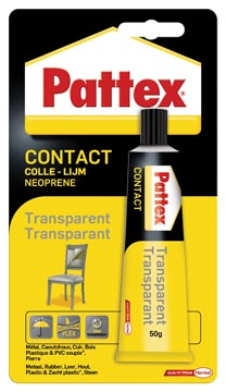 Pattex colle de contact Transparent, tube de 50 g, sous blister