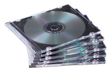 Fellowes Boîtier CD/DVD Slimline, 25 pièces