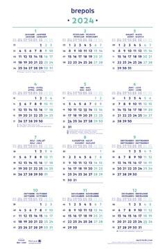 Brepols Calendrier annuel, 2022