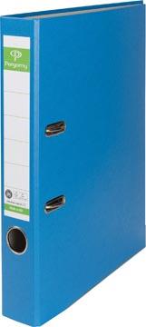 Pergamy classeur, pour ft A4, en carton recouvert de Plastique Recycolor, dos de 5 cm, bleu