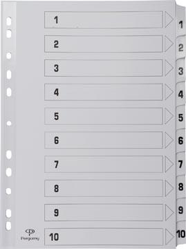Pergamy intercalaires avec page de garde, ft A4, perforation 11 trous, carton, set 1-10