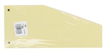 Pergamy intercalaires trapézoïdaux, paquet de 100 pièces, jaune