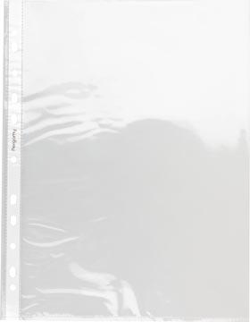Pergamy pochette perforée, ft A4, perforation 11 trous, PP lisse de 60 micron, paquet de 100 pièces