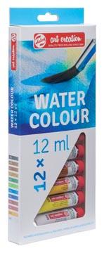 Talens Art Creation aquarelle tube de 12 ml, set de 12 tubes en couleurs assorties