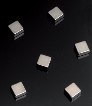 Naga aimants pour tableaux en verre 6 pièces, ft 10 x 10 x 5 mm, acier