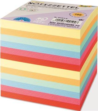 Folia Notes, ft 90 x 90 mm, recharge pour cube-mémo feuillets en couleurs assorties