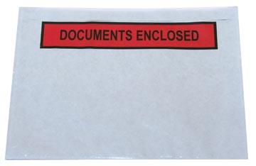 Etui autocollant ft A6, documents enclosed, boîte de 1000 pièces