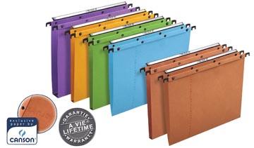 L'Oblique dossiers suspendus pour tiroirs AZO entraxe 365 mm (folio), fond en V, orange