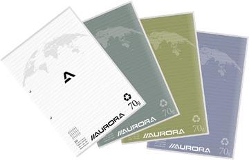 Aurora bloc de cours A4 70g quadrillé commercial, 100 feuilles