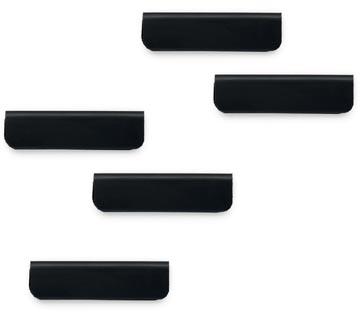 Durable Durafix clip d'affichage magnétique adhésif, 60 mm, paquet de 5 pièces, noir