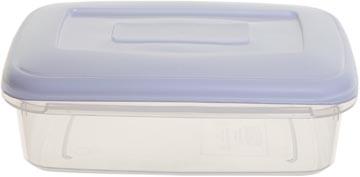 Whitefurze boîte de conservation rectangulaire 1,5 litres, transparent avec couverle blanc