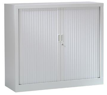 Armoires à rideaux, hauteur 136 cm, gris clair