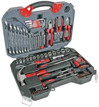 Perel boîte à outils, set de 78 pièces, gris