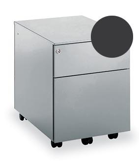 Mobo bloc à tiroirs Universal, 1 tiroir + tiroir pour dossiers, sur roulettes, anthracite