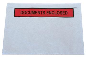 Etui autocollant, ft A5, documents enclosed, boîte de 1000 pièces