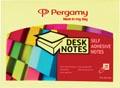 Pergamy notes, ft 76 x 101 mm, jaune